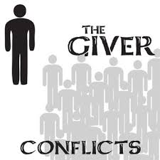 giver conflict graphic organizer 6 types of conflict w answer