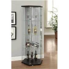 Curio Cabinet Accent Lighting Corner Display Cabinet Ebay