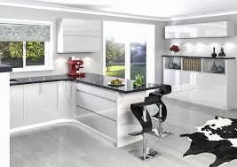 beautiful gloss white integrated handle kitchen taste