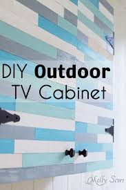Build Outdoor Tv Cabinet Outdoor Tv Cabinet Diy Melly Sews