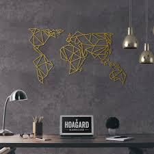 metal wall world map hoagard co