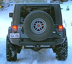 jeep wrangler jk tires one jeep jk trail series rear bumper with smooth motion tire carrier