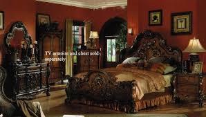 Northshore Bedroom Set Amazon Com 4pc King Size Bedroom Set In Brown Cherry Finish