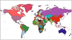 Do Continents Have Flags Every Country U0027s Flag Colors Mixed Into One Color Weighted By Area