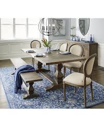 Macys Patio Dining Sets - tristan trestle dining table only at macy u0027s dining room tables