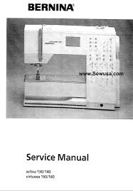 bernina sewing machine service manuals