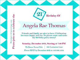 informal invitation birthday party 21st birthday invitations 365greetings com