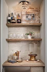 Rustic White Brick Wet Bar Backsplash Design Ideas - Bar backsplash