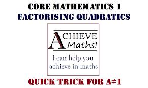 maths tricks quadratic factorisation quick method a not equal