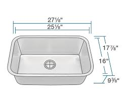 bowl kitchen sink for 30 inch cabinet 2718 single bowl undermount stainless steel sink