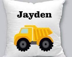 Cushion Construction Dump Truck Pillow Etsy