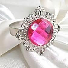 rond de serviette mariage rond de serviette mariage bague diamant fuchsia un jour spécial