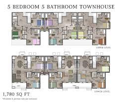 town house floor plan bedroom nice 5 bedroom townhouse with regard to floor plans home