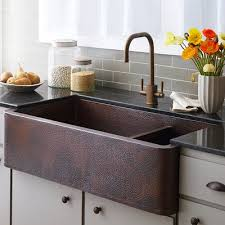 Premier Copper Products  X  Hammered Apron Kitchen Sink - Hammered kitchen sink