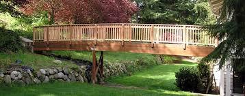 yard bridge trex decking bridge