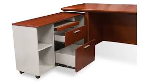 File Desk Organizer by Woodrow Modern Wood Desk With Rolling Return And File Cabinet
