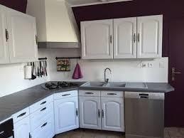 cuisine blanc cassé cuisine repeinte en blanc simple cuisine repeinte en blanc idées