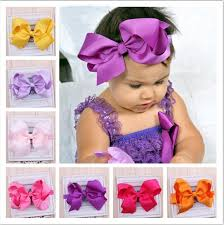 baby bands baby girl big bows hair accessories infant baby headband elastic