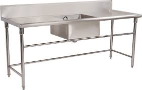 stainless steel prep table with sink commercial kitchen stainless steel tables commercial restaurant