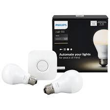 Philips Hue Light Strip Philips Hue A19 Smart Led Starter Kit White Smart Lights