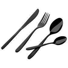 cutlery silver black u0026 gold cutlery sets