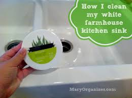 How To Clean Kitchen Sink how i clean my kitchen sink a video creatingmaryshome com