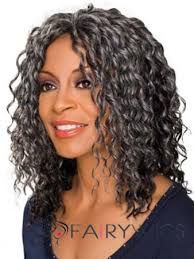 african american hairstyles for grey hair unique medium curly gray african american lace wigs for women