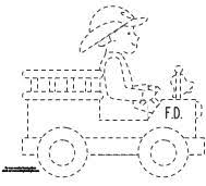 free trace color printable firefighter fire truck