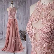 2016 dusty rose bridesmaid dress lace transparent wedding dress