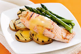 cuisine hollandaise chargrilled salmon with hollandaise sauce