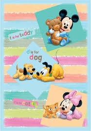 tappeti per bambini disney cameretta disney baby mickey e minnie 80x120