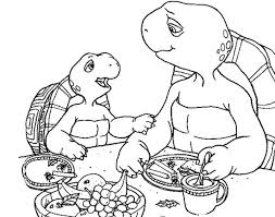 picture franklin turtle friends coloring pages