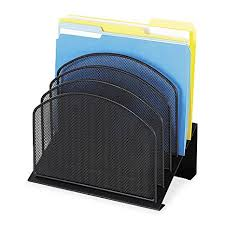 Safco Desk Organizers Safco Products 3257bl Onyx Mesh Desktop Organizer