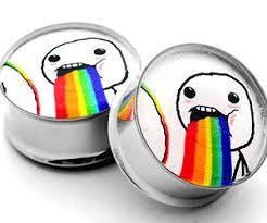 Puking Rainbow Meme - pixel cursor stud earrings buy this bling