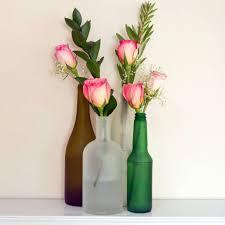 Unique Flower Vases Diy Frosted Glass Bottles Popsugar Smart Living