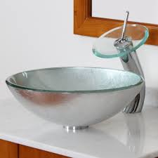 bathroom over the counter sink bowl bowl sink pedestal glass