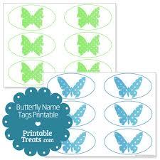 butterfly name tags printable printable treats com