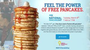 Get Free Pancakes At Participating Get Free Stack From Ihop Support Charities For National