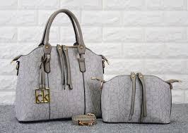 Tas Calvin Klein tas calvin klein bowling satchel set abu abu semi premium 816