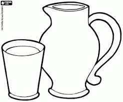 disegni bicchieri disegni di colazione da colorare e stare