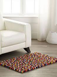 tapis rayé en coton jaune gris 60 x 100 cm porto home sweet home