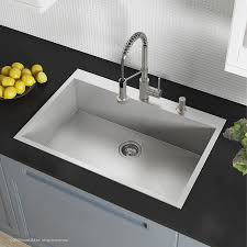 what size base cabinet for 33 inch sink kraus kp1ts33s 2 pax kitchen sink single bowl 33 inch 2 holes stainless steel