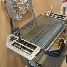Glass Drafting Tables Best Drawing U0026 Drafting Table Glass Desk 5 Settings Obo For