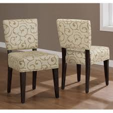 Fabric Dining Room Chairs Overstock Damask Dining Chairs Set Of 2 This