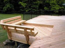 built in deck bench plans bench with back support accessories