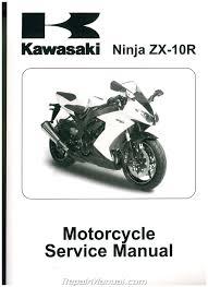 2008 2010 kawasaki ninja zx10r zx1000e printed motorcycle service
