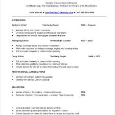 chronological resume templates chronological resume templates
