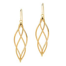 gold dangle earrings gold earrings for less overstock