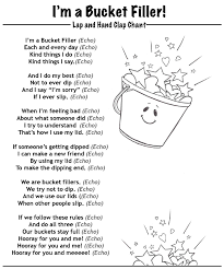 bucket filler chant coloring coloring