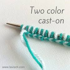 knitting a two color cast on a tutorial craftfoxes how to